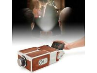SMARTPHONE PROJECTOR 2.0 HOME CINEMA IN A BOX BRAND NEW FOR iPHONE IOS ANDROID