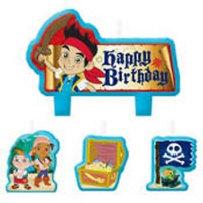 Jake and the Neverland Pirates Birthday Party Candle Set 4 Pieces - Jake The Pirate Birthday Party