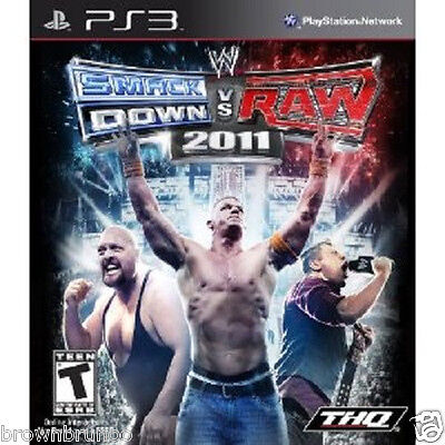 WWE Smackdown vs Raw 2011 WWF Wrestling PS3 New Sealed for sale  Shipping to India