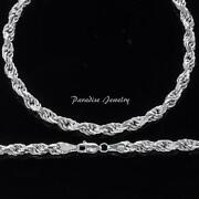 Mens Solid White Gold Chain