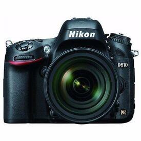 Nikon D610 DSLR Camera with Nikon AF-S Nikkor 24-85mm f/3.5-4.5G ED VR Lens Kit