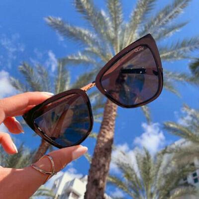NEW QUAY AUSTRALIA X JLo Reina Sunglasses in Black Smoke - SALE (SAME DAY (Sunglasses Sale Australia)