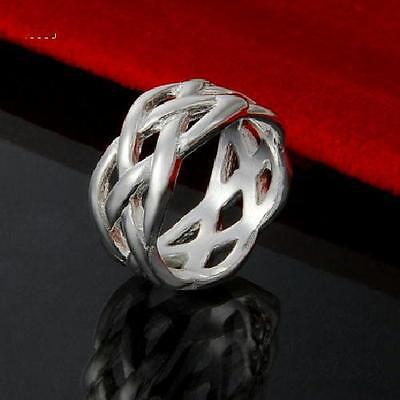 Knot Ring (New 925 Sterling Silver Filled 10mm Celtic Knot Ring)