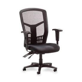 Lorell Executive High-Back Desk Chair (Black)