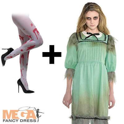 4 Matching Halloween Costumes (Dreadful Darling + Tights Ladies Fancy Dress The Shining Twin Halloween)