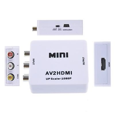 Composite AV CVBS RCA Video Audio to HDMI Converter Box HD 720p 1080p Upscaler on Rummage