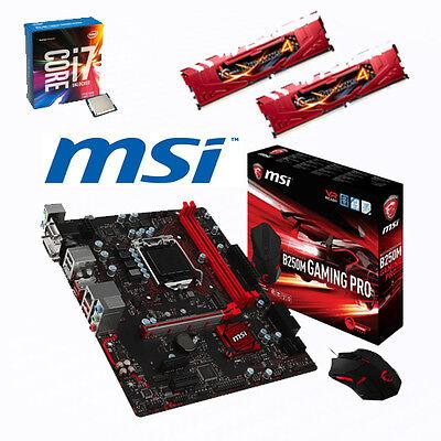 Bundle Intel Core i7 7700+4x4,20GHz-MSI B250M Gaming Pro-16GB RAM-Gaming Maus