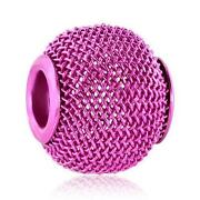Pink Crystal Spacer Beads