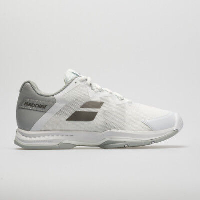 Babolat SFX3 All Court White/Silver Women's - Size 8.5 - FREE String and Grip (Tennis-schuhe Strings)