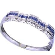 Sapphire Diamond Gold Bangle