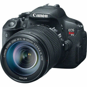 canon rebel t5i with lens and accessories