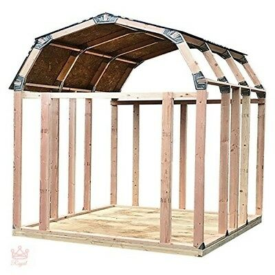 Shed Kit Outdoor Storage Garden Wood Backyard Utility Tool Instant Framing Kit