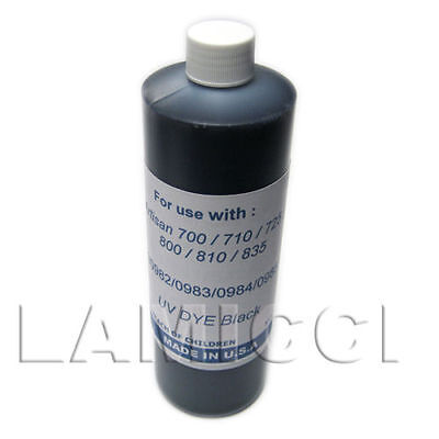 1000cc Black Dye refill ink for CISS cartridge Epson 700 710 730 800 810 835 837 for sale  Shipping to India