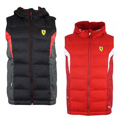Puma Ferrari SF Padded Gilet Bodywarmer Childrens Kids Red Black 761680 01 02 P0