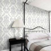 Gray Damask Wallpaper
