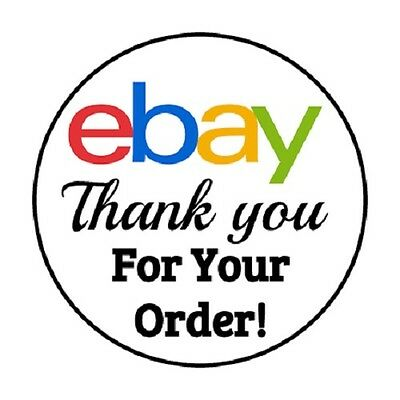48 Ebay Thank You Order Envelope Seals Labels Stickers 1 2  Round