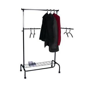 Kleiderständer mit Schuhablage höhenverstellbar fahrbar