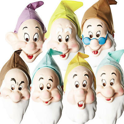 Disney Seven Dwarf Masks Adults Fancy Dress Snow White Mens Costume Accessories - Dwarf Costume Adults
