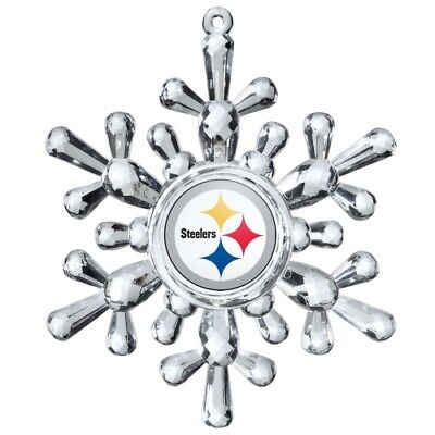 Pittsburgh Steelers Football NFL Traditional Snowflake Christmas Tree Ornament