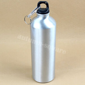 750ML Outdoor Sports Cycling Camping Bicycle Aluminum Alloy Water Bottle Silver