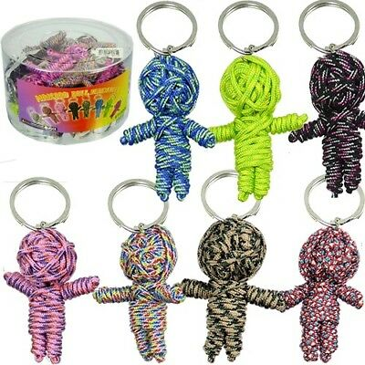 Wholesale Keychains Bulk (Paracord Voodoo Doll Keychain Novelty Gift Bulk (Pack of)