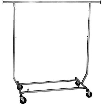 Econoco Rcs1 Collapsible Garment Rack 50 Length Steelpolished Chrome