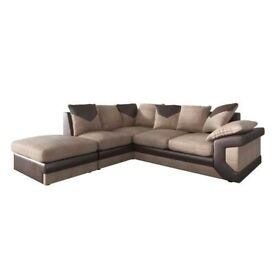 45% Excelent Deal - DINO Jumbo CORD NEW FABRIC SOFA -Multiple Colour Options Large Sitting CUHSIONS