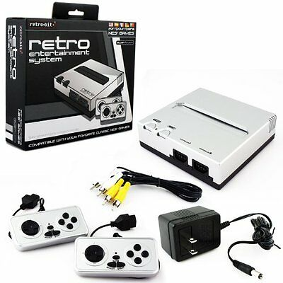 Retro Bit Nintendo NES Entertainment System (Silver/Black) [Nintendo NES]