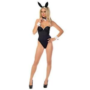 9bdcf20059a3 Bunny Lingerie Costume Black Playboy Style Size Large Halloween for ...