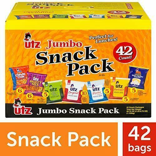 Utz Snack Variety Pack (Pack of 42) Individual Snacks, Includes 42