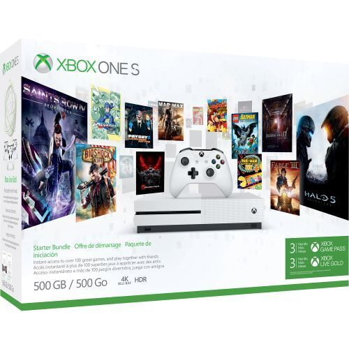 Microsoft Xbox One S Starter Bundle (500GB) 3 Month Xbox Live and Game Pass