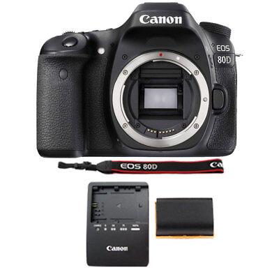 Canon EOS 80D 24.2MP Digital SLR Camera Body Only -Black