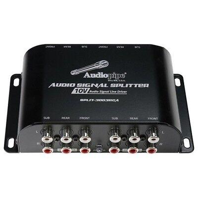 Audiopipe Multi-Audio Amplifier 3 RCA outputs w/bulit in 10V
