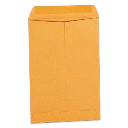 Catalog Envelope, #1 3/4, Square Flap, Gummed Closure, 6.5 x 9.5, Brown Kraft,