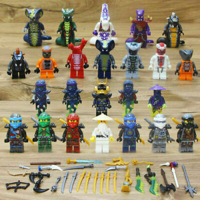 Lot/24Pcs Ninjago Ninja Movie Lloyd Garmadon Cole Minifigure Minifigures Lego