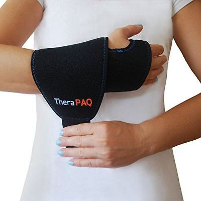 Wrist Ice Pack Wrap By TheraPAQ: Hand Support Brace With Reusable Gel Pack