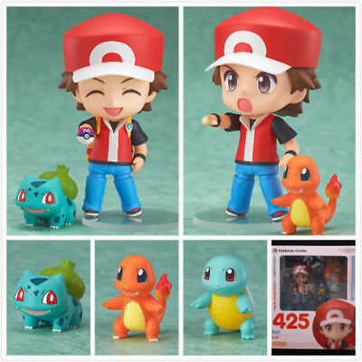 Pokemon Ash Ketchum Bulbasaur Charmander Squirtle Action Figures Anime Toy Gift