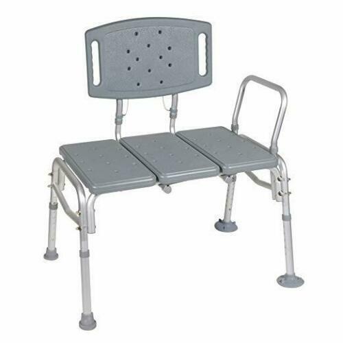 NEW!! Drive Medical 12025KD-1 Heavy Duty Bariatric Plastic Seat Transfer Bench