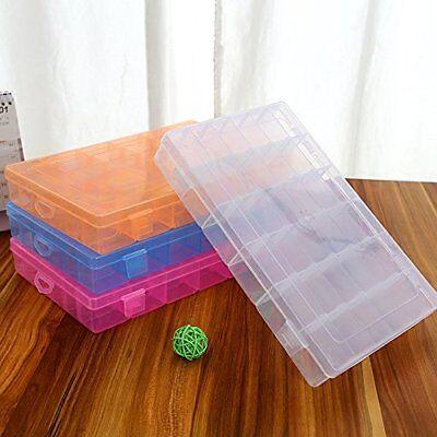 36 Grid Box Storage Organizer Case Display Collection w/ Adjustable Divider Big (Big Boxes)