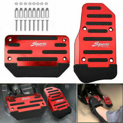 Universal Red Non-Slip Car Automatic Gas Brake Foot Pedal Pad Cover Accessories