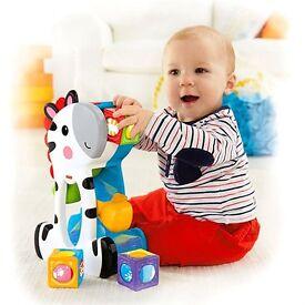 Fisher-Price Roller Blocks Tumblin' Zebra used