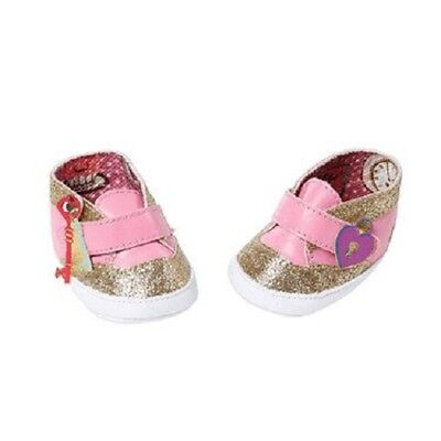 Zapf Creation Baby Annabell Doll Shoes - Gold & Pink Trainers for sale  Shipping to United States