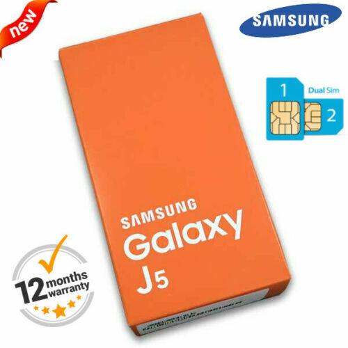 Android Phone - GOLD Boxed 4G 16GB Samsung Galaxy J5 J500F Dual SIM Unlock Android Smart Phone