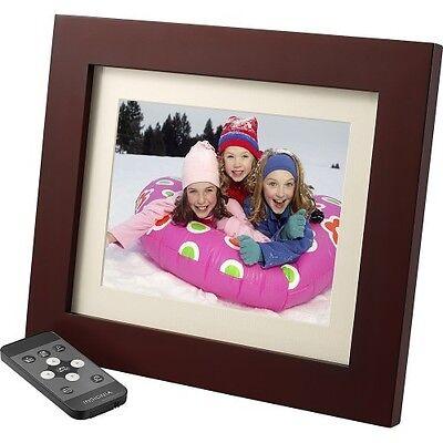 """Insignia 8"""" Digital Photo Frame - Espresso Wood Finish NS-DPF08WW-16 In Box - VG"""