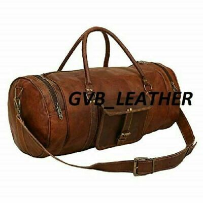 Vintage Weekend best gift Bag Leather Duffle Travel Genuine Luggage Overnight