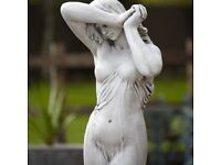 Stone Statue - Large - RRP £490 - Lovely Shy Girl Garden or Indoors