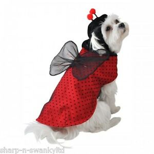 Pet-Dog-Cat-Ladybird-Halloween-Christmas-Gift-Fancy-Dress-Costume-Outfit-Clothes