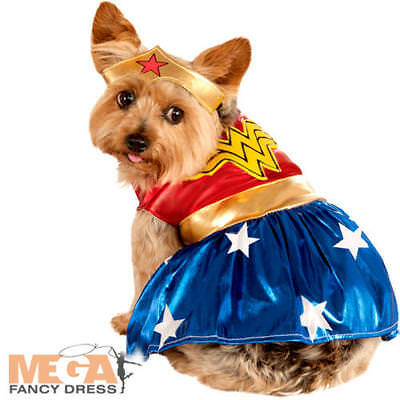 Wonder Woman Dog Fancy Dress DC Superhero Puppy - Wonder Pets Dog Kostüm