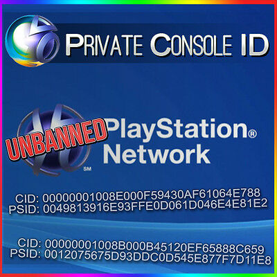 Console ID + PSID IDPS Unban 100% private with warranty Delivery Time 10-30Minte
