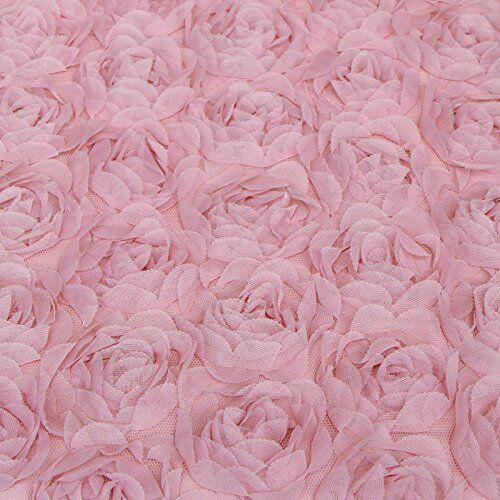 Rose Floral Chic Boudoir Cushion - Pink Ruffle Filled Cushion 30 X 45 Cm